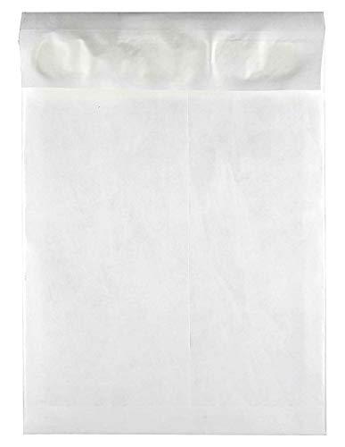 Survivor Tyvek Open End Expansion Mailer, 10 x 13 x 1.5 Inch, White, Case Pack of 100