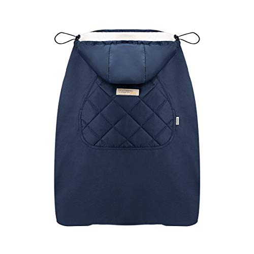 Bebamour Universal Hoodie All Season Carrier Cover for Baby Carrier (Dark Blue)