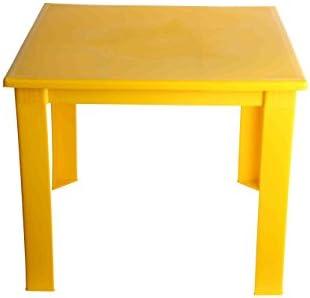 Mesa plegable de plástico para niños, para el hogar, jardín, interior y exterior, mesa de café. amarillo amarillo