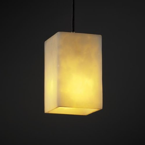 Justice Design Group CLD-8816-15-DBRZ Clouds Collection Small 1-Light Pendant Light Fixture