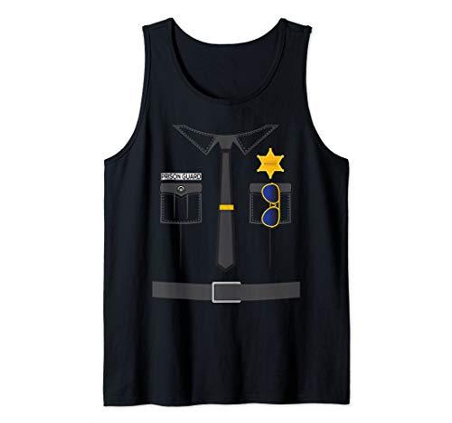 Prison Guard Correctional Officer Easy Halloween Costume Fun Tank Top]()