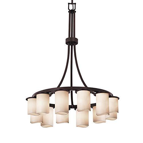 - Justice Design Group Lighting CNDL-8738-14-CREM-DBRZ Dakota Chandelier 28