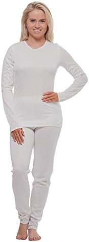 Cuddl Duds Women's Winter Thermal Long underwear base layering set