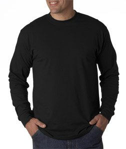 Gildan Adult Ultra Blend Long-Sleeve T-Shirt - Black, XL - Adult Ultra Cotton Pocket
