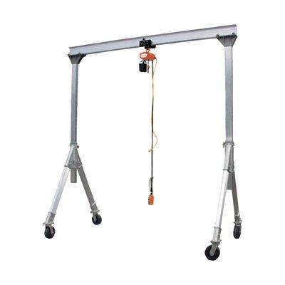 Vestil AHA-2-8-12 Aluminum Adjustable Gantry Crane, 2000 lb. Capacity, 8' Overall Beam, 96