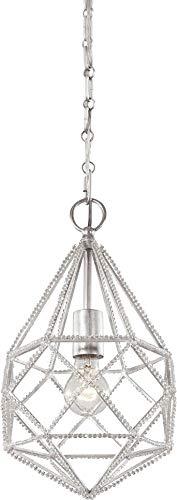 - Feiss P1313SLV Marquise Crystal Diamond Mini Pendant Lighting, Silver, 1-Light (10