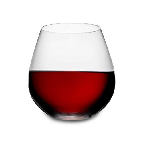 Casual Elegance Design O Pinot/Nebbiolo Stemless Wine Glasses Set of 2