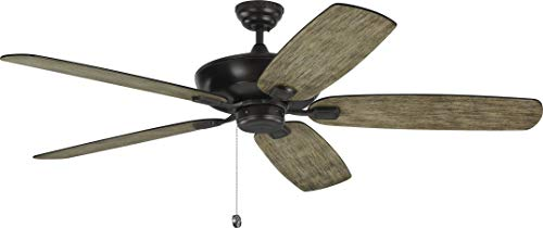 Monte Carlo 5CSM60AGP Protruding Mount, 5 Light Grey Weathered Oak Blades Ceiling fan, Aged - Blade Pewter Ceiling