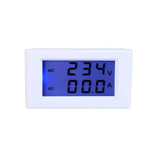 SZHR D85-2042 Blue LCD Digital AC Voltmeter Ammeter AC80-300V AC0-100A Voltage Current Meter 2 in 1 Panel AMP Volt Tester ()
