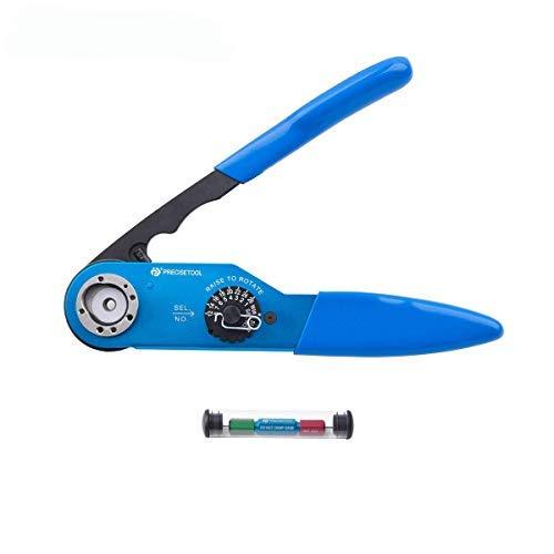 Precisetool Crimp Tool Kit YJQ-W2A(AF8) Standard Adjustable Indents Crimper Frame & G125 GO-NOGO Gauge, Crimp Wire Size 12-26AWG