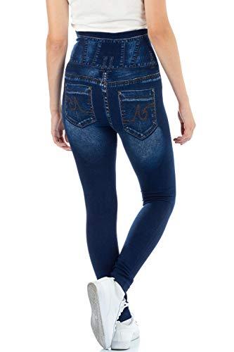 0de1a4d8d6f47 Malucas Sports Damen Leggings mit Hohem Bund in Jeans-Look 00510:  Amazon.de: Bekleidung
