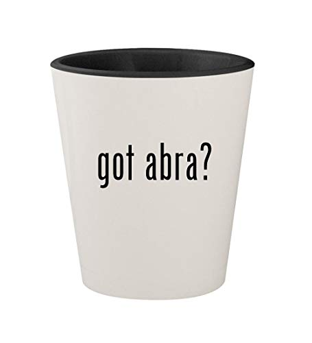 got abra? - Ceramic White Outer & Black Inner 1.5oz Shot Glass