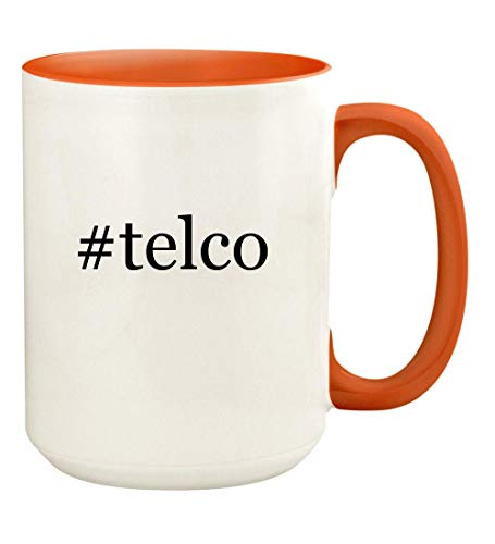 (#telco - 15oz Hashtag Ceramic Colored Handle and Inside Coffee Mug Cup,)