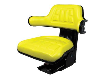 Yellow Waffle Style Universal Tractor Suspension Seat, Multi-Angle Base for John Deere 2040, 2155, 2750, 2755, 2840, 2855 (FAST & FREE DELIVERY!) #IE62 Concentric