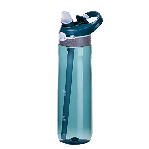 YUKING Sport Water Bottle With Straw Leakproof and Durable Portable Drinking Straw Bottles