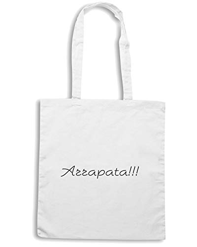 Borsa Shirt ARRAPATA Bianca TDM00027 Shopper Speed FgZaqa