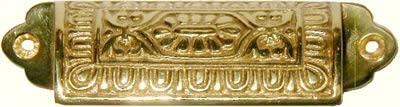 VICTORIAN CAST BRASS  BIN  DRAWER PULL   B1373