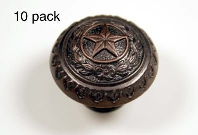 - TEXAS STATE SEAL KNOB ORB WESTERN CABINET HARDWARE DRAWER PULLS STAR KNOBS (10)