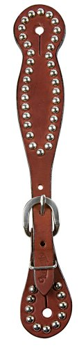 Weaver Leather Women's Bridle Leather Spur Straps with Spots, (Good Hope Ladies Leather)