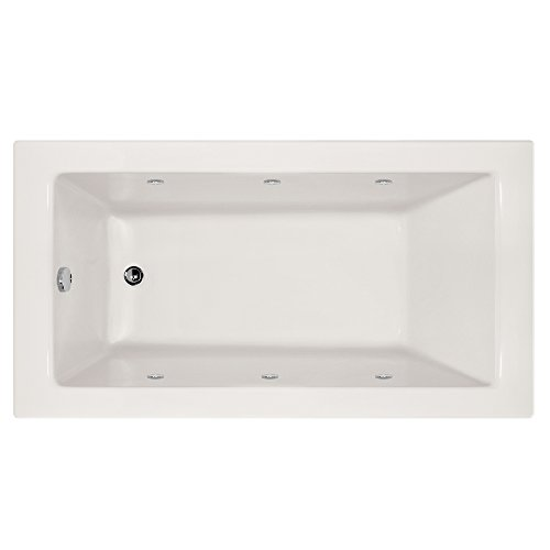 Hydro Systems SYD7240AWP-WHI-LH-WOV.PC Sydney Acrylic Tub with Whirlpool System (Left Hand Drain Included), White/Polished Chrome