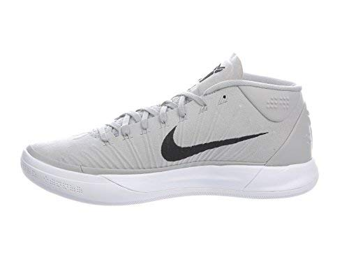 NIKE Men's Kobe A.D. Wolf Grey/Black/White Nylon Basketball Shoes 9 D(M) US