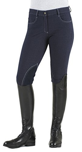 Ladies Cotton Knee Patch Breeches - 2