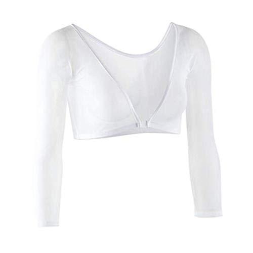 Ms Basics Kit - Mesh See Through Short Sleeve Crop Top Elegant Plain Basic T Shirt Party Bodycon Tee T Shirt Beige XL