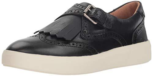 FRYE Women's BREA Kiltie Sneaker, Black, 8