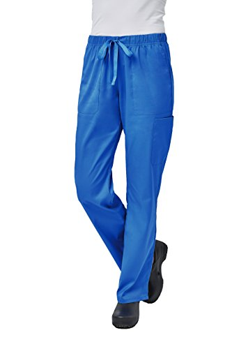 Elements by Alexander's Uniforms EL9305 Women's Half Elastic Waistband Four Way Stretch Scrub Pant (Royal Blue, ()