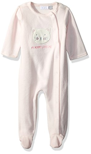 The Children's Place Baby Girls' Sleep 'N Play Romper, Baby Pink 85596, UPTO7LBS