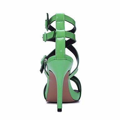 LvYuan-ggx Damen High Heels Pumps Leder Sommer Normal Pumps Pumps Pumps Stöckelabsatz Grün 10 - 12 cm b490bb