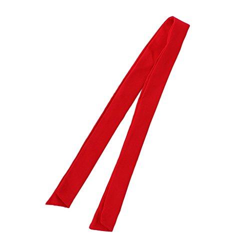 Prettyia Chef Scarf Neck Tie Kitchen BBQ Cooking Baking Bar Neck Wear Neckerchief - Red, 100×3.5×7 cm