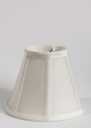 Urbanest Faux Silk Empire Chandelier Lamp Shade, 3-inch by 6-inch by 5-inch, Off White, Clip-on, Hardback