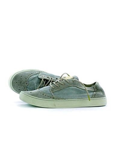 Satorisan, Homme, Yukai Suede Lin Vergri, Cuir / Canevas, Chaussures De Tennis, Gris