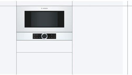 Bosch Serie 8 BFR634GW1 - Microondas (Integrado, Solo microondas ...