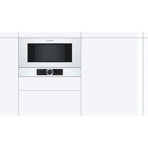Bosch Serie 8 BFR634GW1 Integrado Solo - Microondas (Integrado, Solo microondas, 21 L, 900 W, Giratorio, Tocar, Blanco): Amazon.es: Hogar