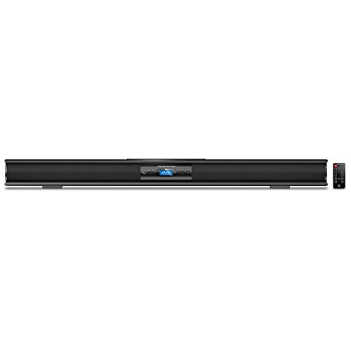 Innovative Technology Low-profile 37-Inch Bluetooth Stereo Soundbar, Black