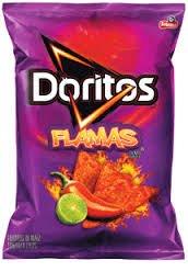 Frito Lay, Doritos® Brand, Flamas (Hot) Flavored Tortilla Chips, 11oz Bag (Pack of 3)