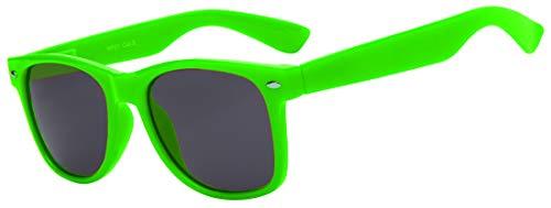 Retro 80's Vintage Sunglasses Smoke Lens Green Frame for Women OWL ()