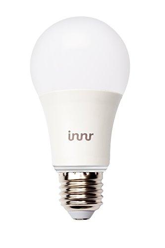 Innr E27 Bombilla LED conectada, luz blanca cálida, controlable vía smartphone, Hue* compatible, RB 165: Amazon.es: Iluminación