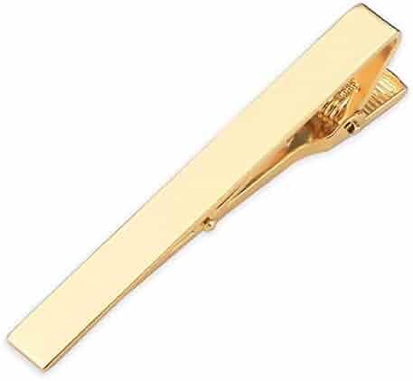 SKYyao Tie Clips Tie Bar Clip Mens Collar Feather Tie Clip Collar Clip Tie Accessories Accessories Copper 5CM