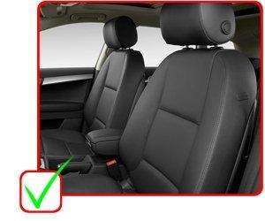 OPT Brand Gray Color MESH Cloth Fabric 2 Front Car Seat Covers Compatible to Kia Rio Sorento Sportage Rondo Soul Cadenza K900 Sedona Optima Forte Koup