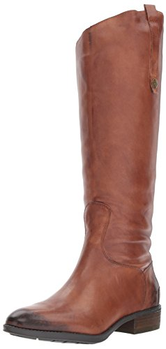 Sam Edelman Women's Penny Riding Boot, Whiskey Leather, 9 M US by Sam Edelman