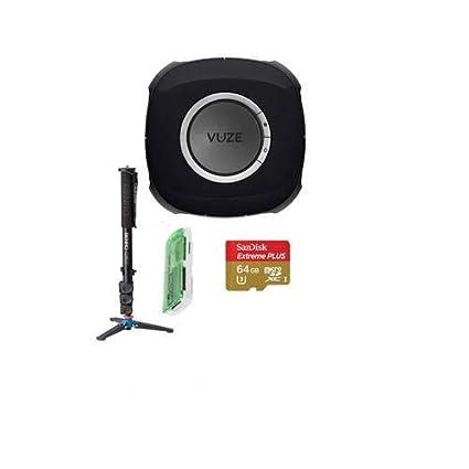 50bf1629e45 Amazon.com   Vuze 3D 360 Spherical VR 4K Camera (Black) - Bundle ...
