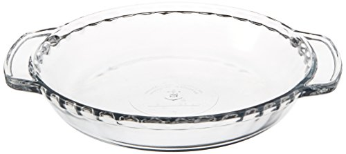 Anchor Hocking 77886 Fire-King Deep Pie Baking Dish, Glass, 9-Inch (Round Quiche Pan)