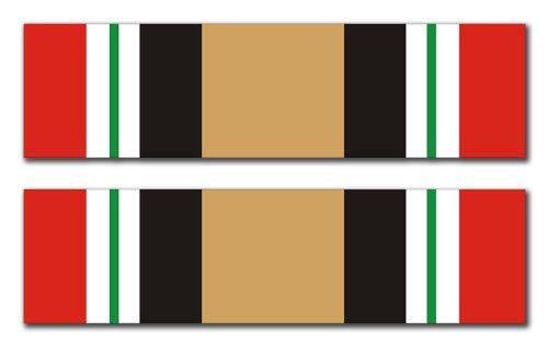 Iraq Service Ribbon - Iraq Service Ribbon (Pair) Decal Sticker 3.8