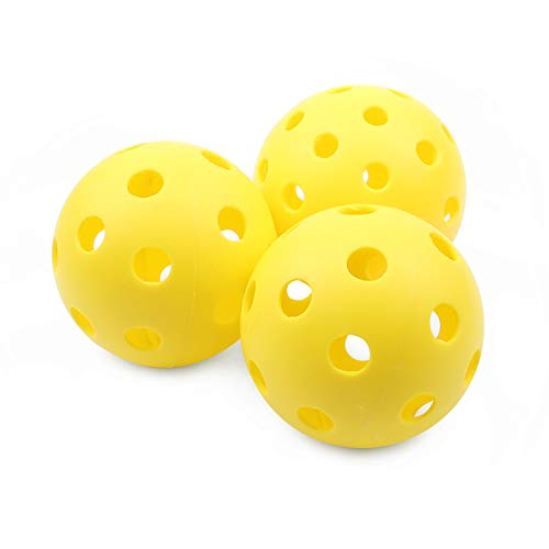 Boealzhl Pickleball Balls 3 Outdoor Pickleballs Specifically Designed for Pickleball