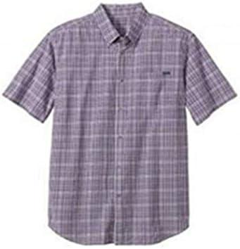 Camisa Manga Corta Hombre de Eddie Bauer - Lila A Cuadros, L: Amazon.es: Ropa y accesorios