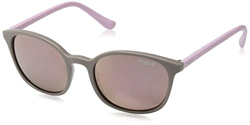 VOGUE Women's Injected Woman Non-Polarized Iridium Square Sunglasses, Grey, 52 - Sunglasses Vogue Prices