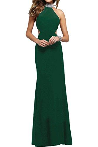 Stehkragen Steine Damen Ivydressing Promkleid Etui Grün Modern Rueckenfrei Partykleid Abendkleid Linie Festkleid E6O6ngqw